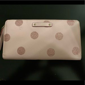 Kate Spade pink sparkle dot wallet